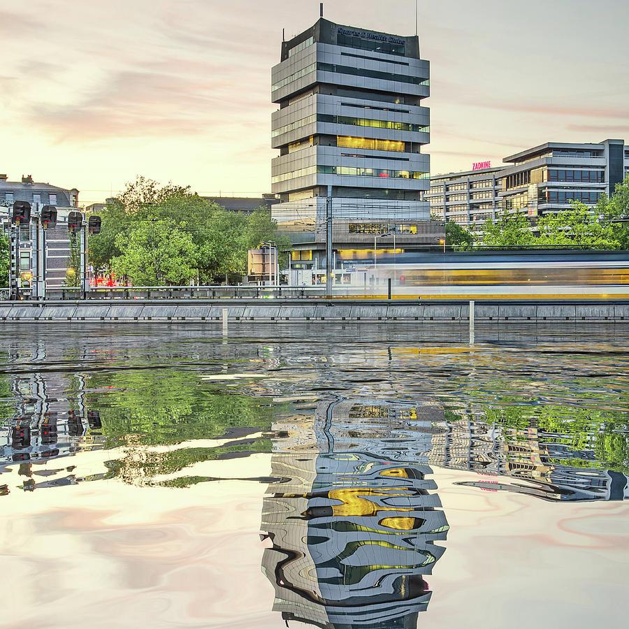 Water Reflection Akragon Rotterdam by Frans Blok