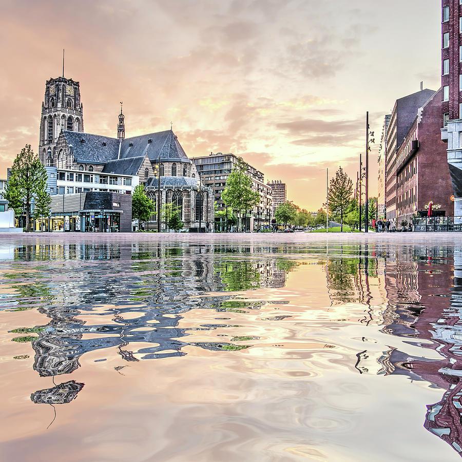 Water Reflection Binnenrotte Rotterdam by Frans Blok