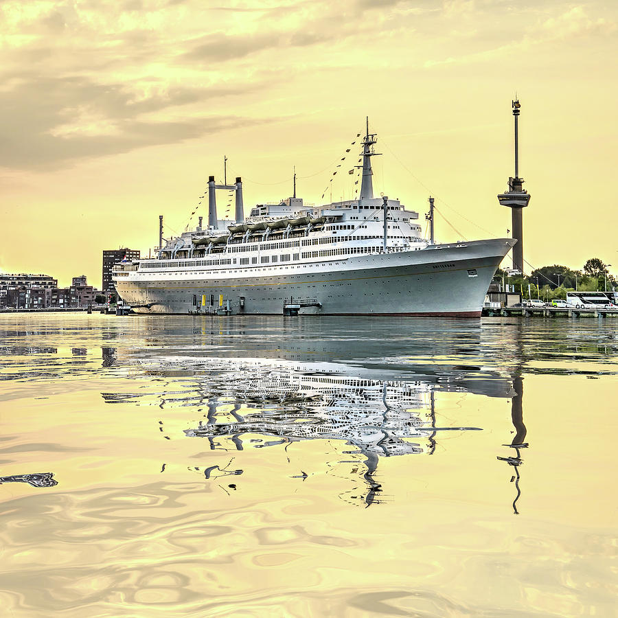 Water Reflection Cruise Ship Rotterdam by Frans Blok