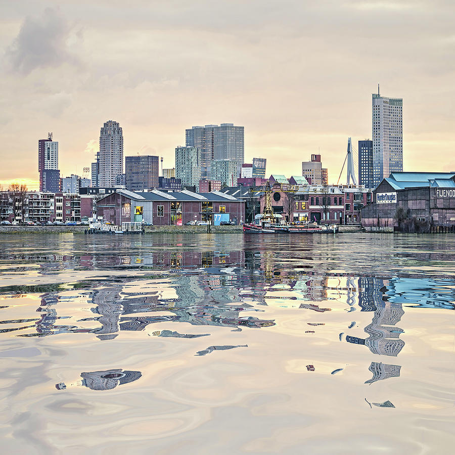 Water Reflection Feijenoord Rotterdam by Frans Blok