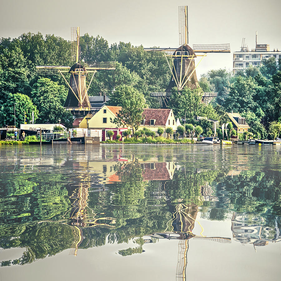 Water Reflection Kralingen Rotterdam by Frans Blok