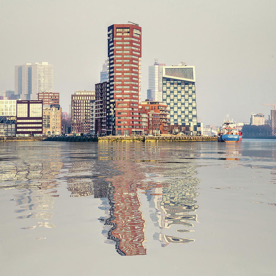 Water Reflection Lloydpier Rotterdam by Frans Blok