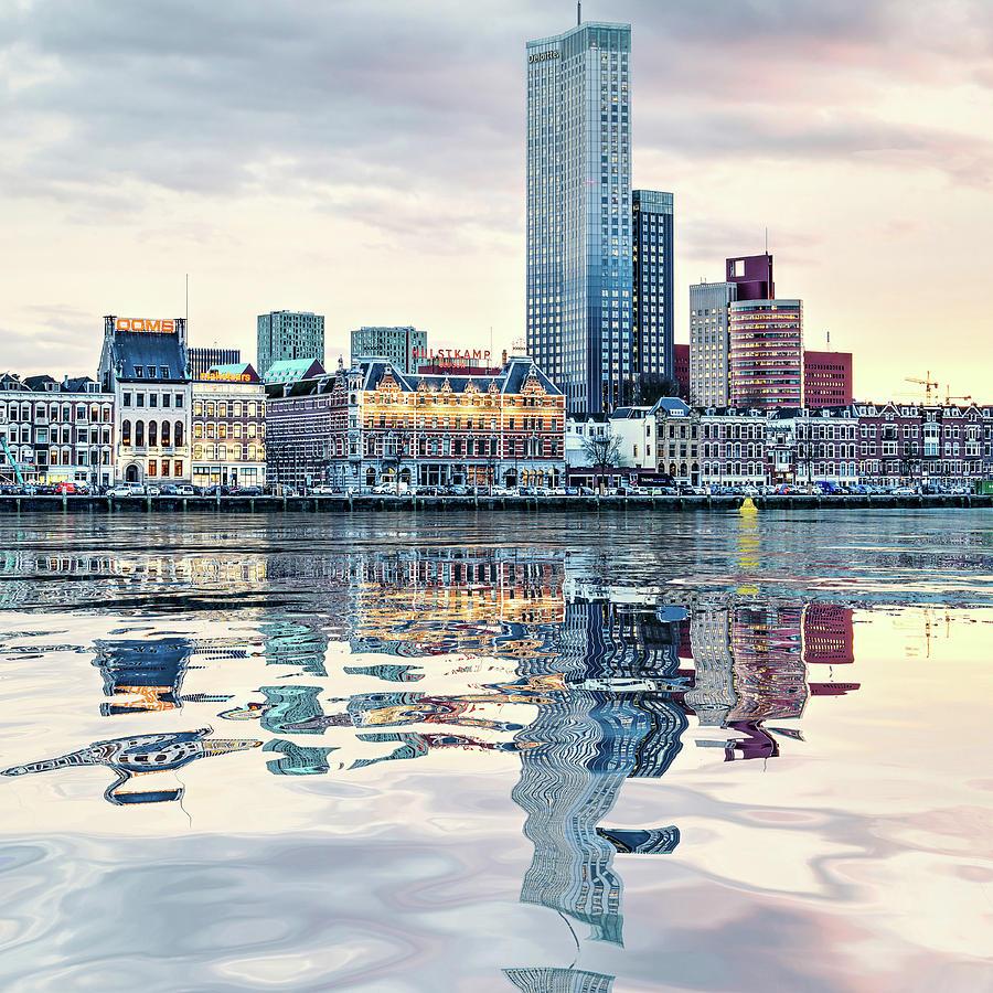 Water Reflection Noordeiland Rotterdam by Frans Blok