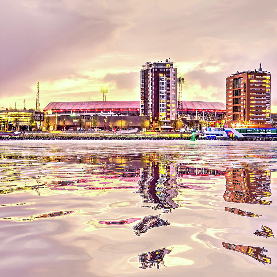 Water Reflection Stadium De Kuip by Frans Blok
