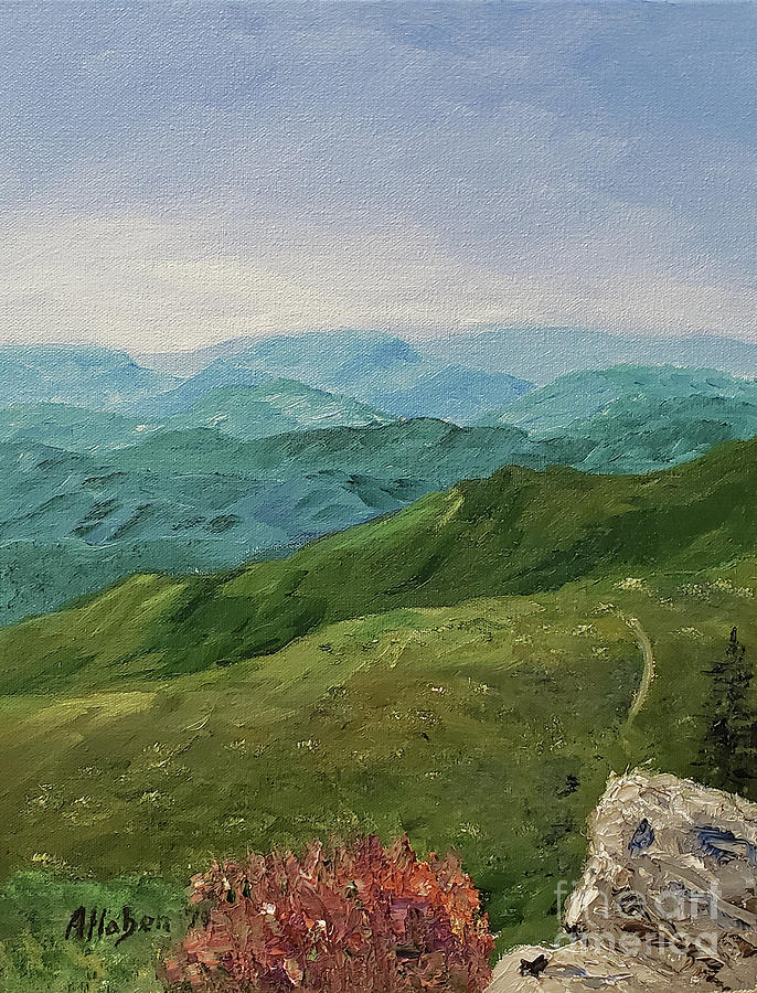 Mountains Painting - Water Rock Knob View by Stanton Allaben