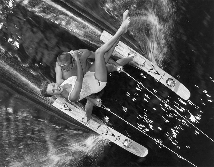 Water-ski Demonstration In Florida 1963 Photograph by Keystone-france