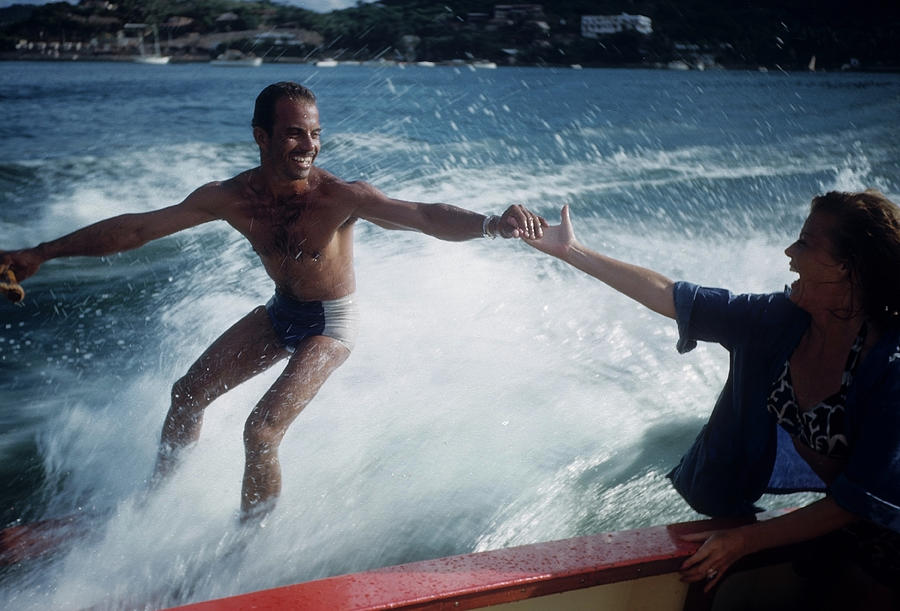 Water Skiing In Acapulco Photograph by Michael Ochs Archives