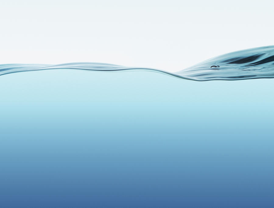 Water Surface With Wave Photograph by Kedsanee