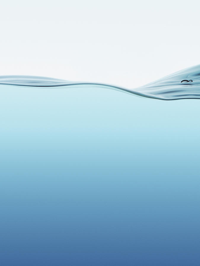 Water Surface With Waves Photograph by Kedsanee