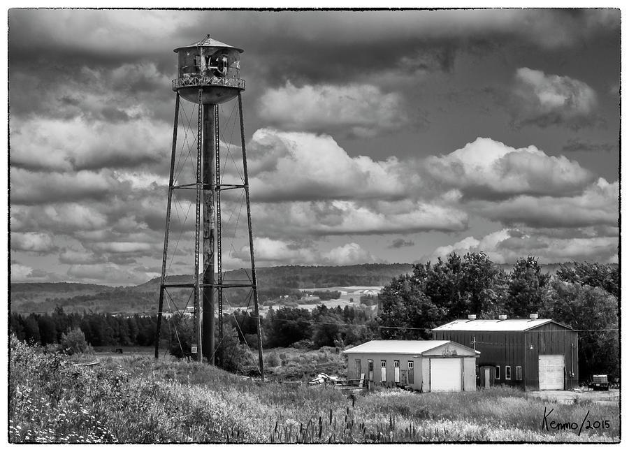 Atlantic Canada Photograph - Water Tower In Hillsborough New Brunswick by Ken Morris