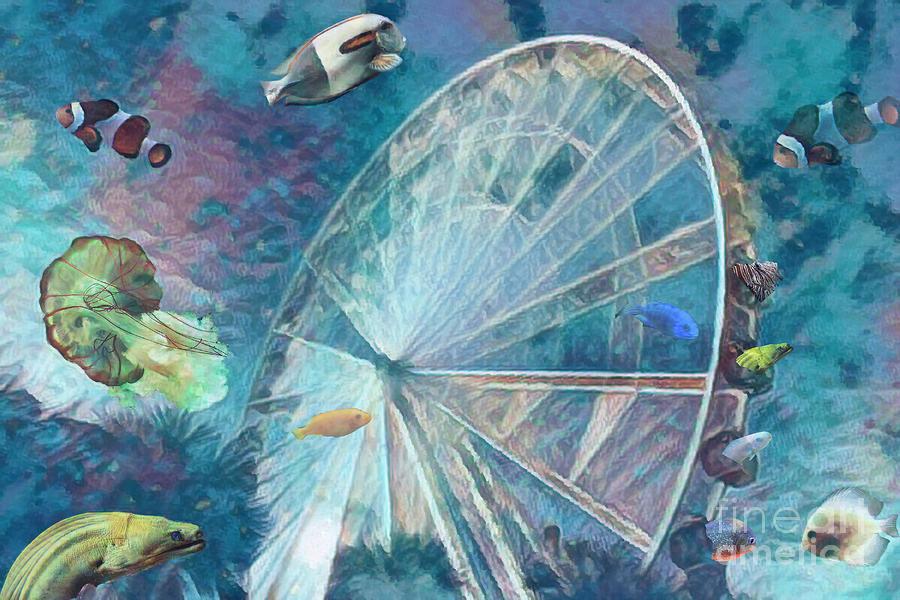 Water Wheel Fun by Irene Dowdy
