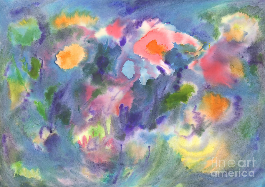 Watercolor abstraction, vivid flowers. Abstract painting. by Irina Dobrotsvet