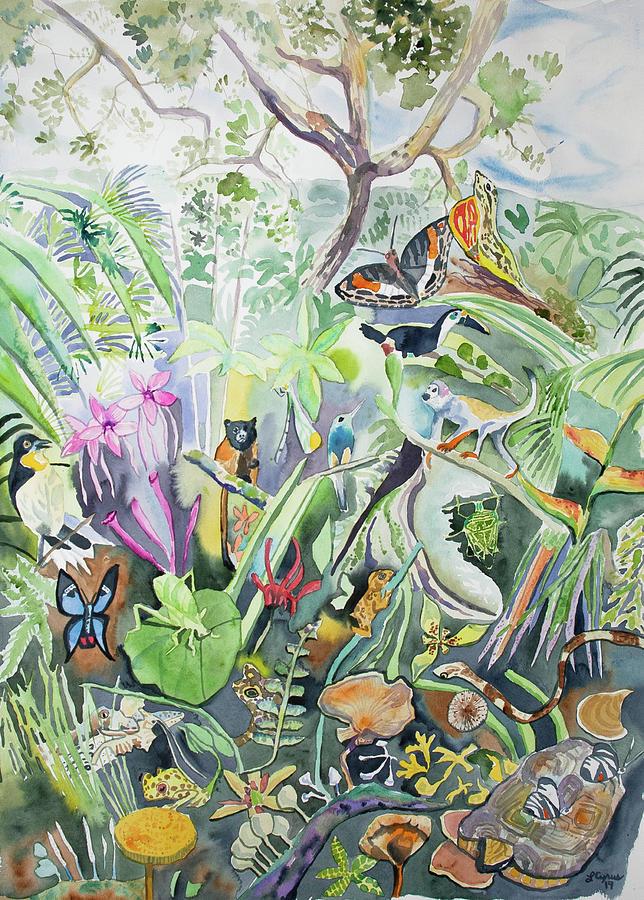 Watercolor - Amazon Rainforest Design by Cascade Colors