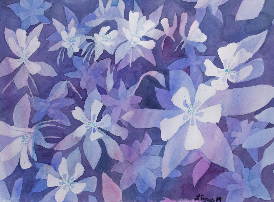 Watercolor - Blue Columbine Design by Cascade Colors