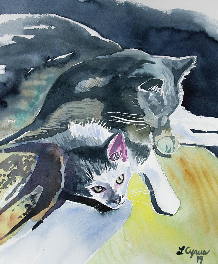 Watercolor - Cat Companions by Cascade Colors