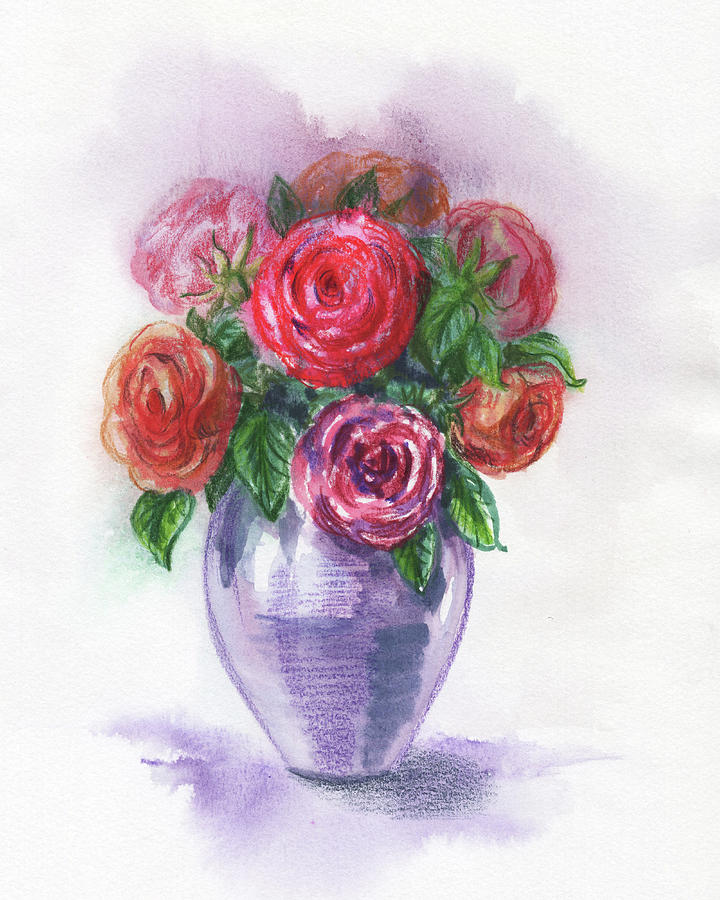 Watercolor Flowers Bouquet Natures Breath I by Irina Sztukowski