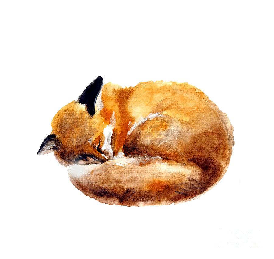 Symbol Digital Art - Watercolor Illustration Of A Sleeping by Tatyana Komtsyan