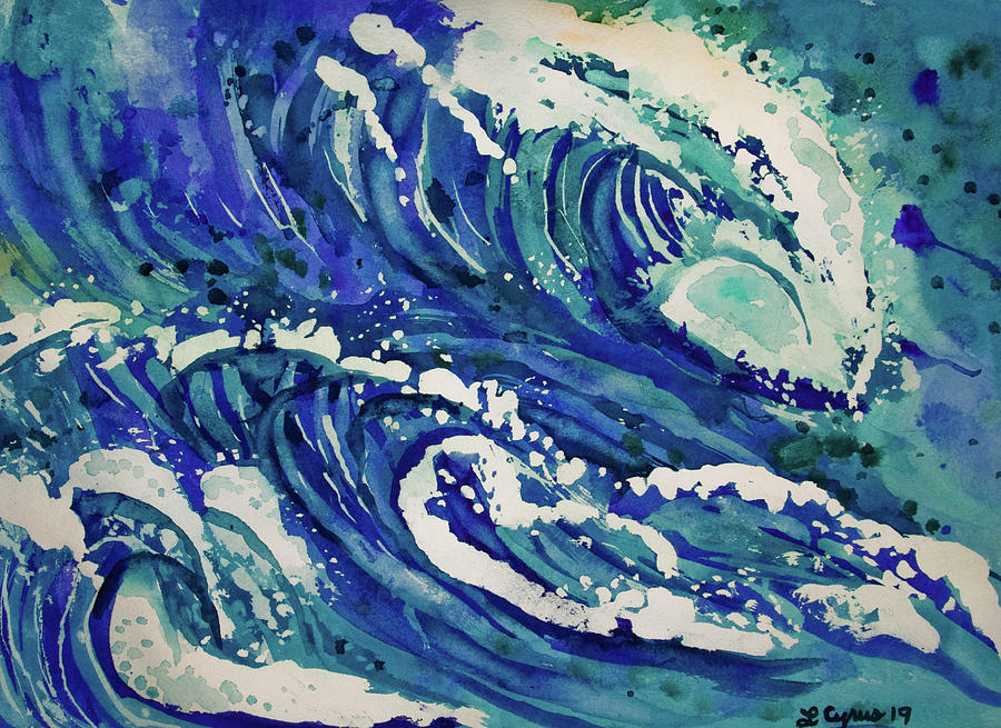 Watercolor - Ocean Wave Design by Cascade Colors
