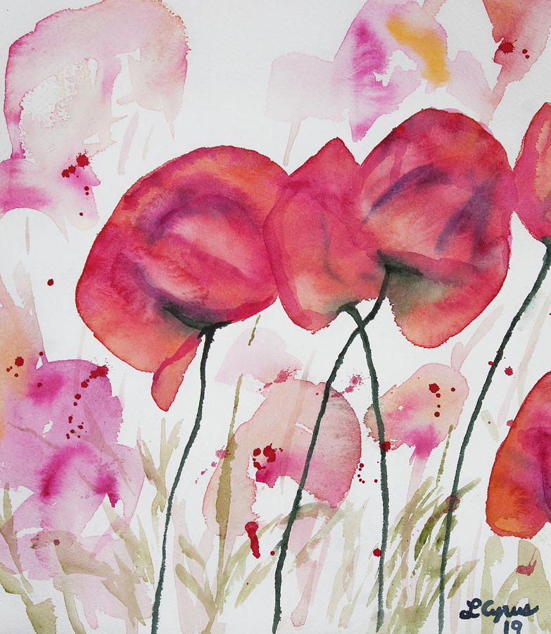 Poppy Painting - Watercolor - Poppy Portrait by Cascade Colors