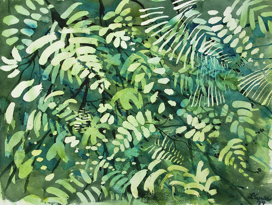 Watercolor - Rainforest Canopy Design by Cascade Colors