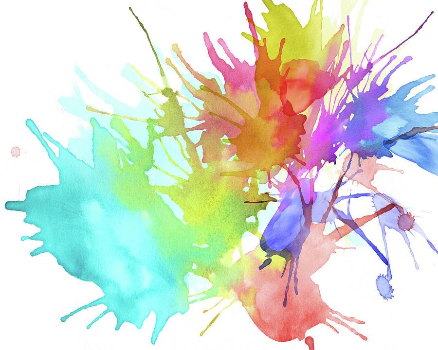 Watercolor Splashes Digital Art by Crisserbug