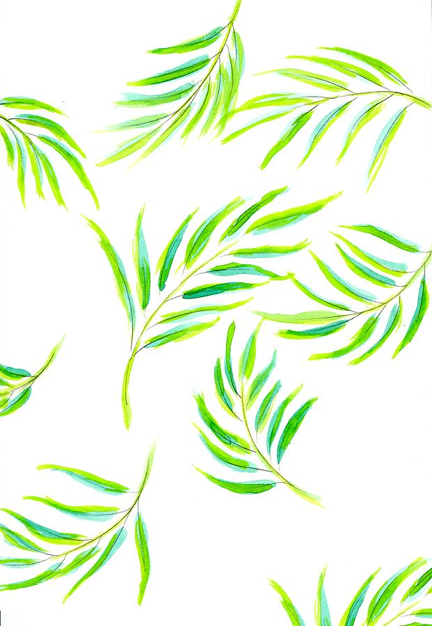 Watercolor Tropical Leaves 2 by Marianna Mills