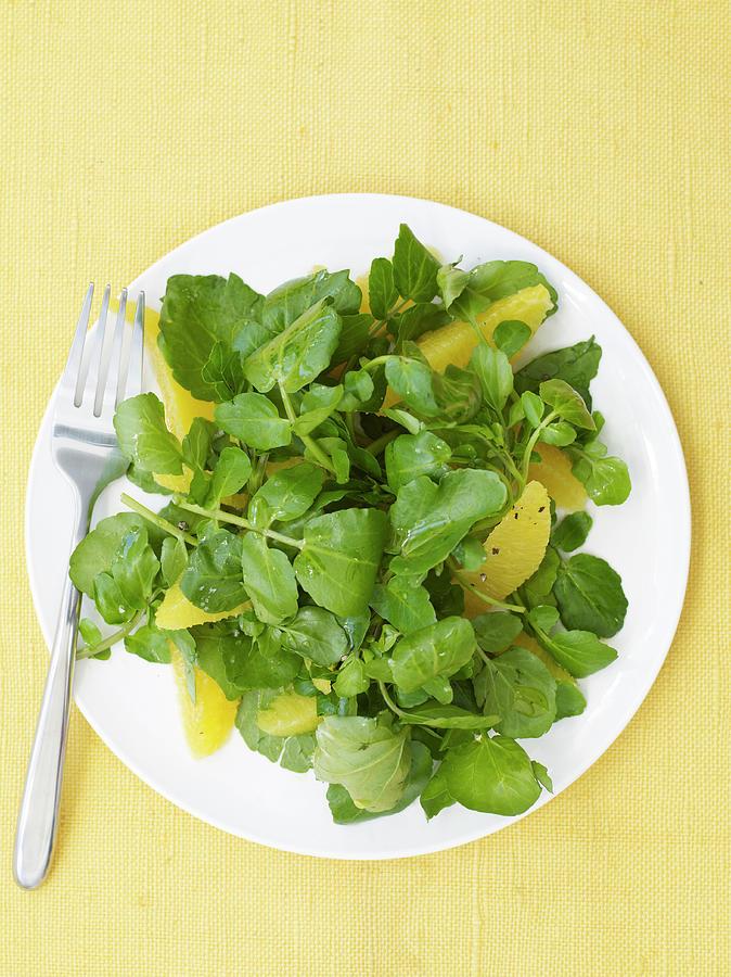Watercress Orange Salad Photograph by James Baigrie