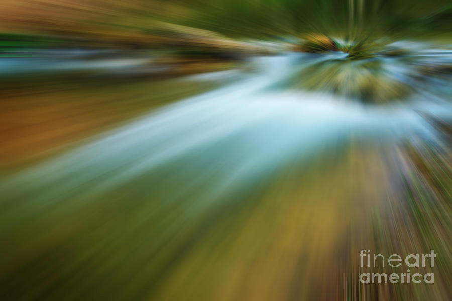 Landscape Photograph - Waterfall Abstract by Vicente Sargues