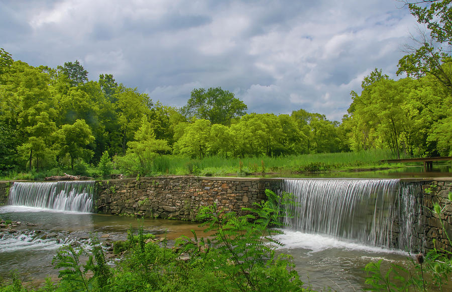 Waterfall Along Valley Creek - Valley Forge by Bill Cannon