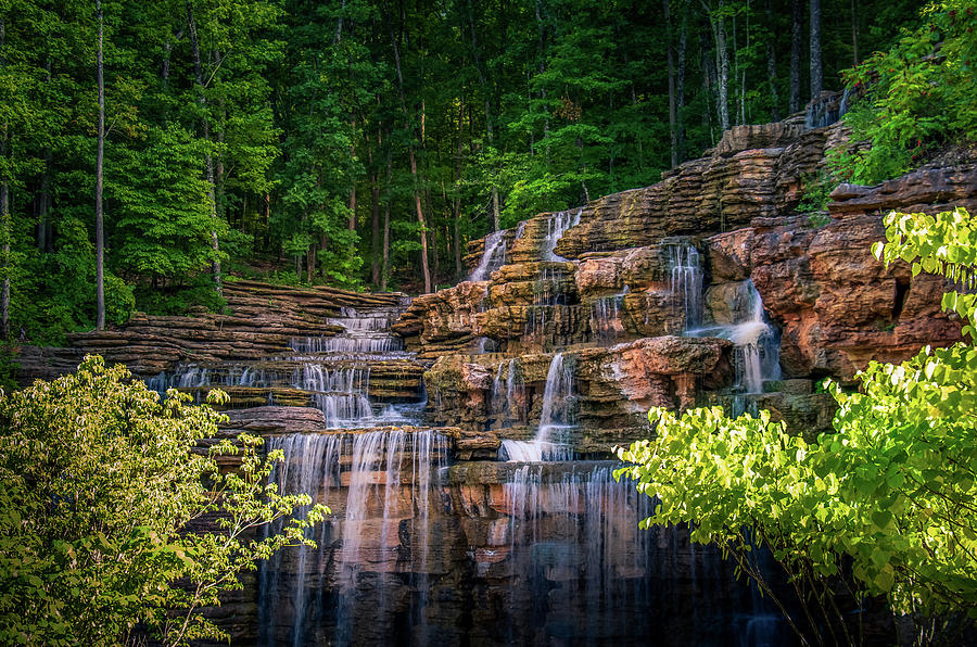 Waterfall at Top of the Rock by Allin Sorenson