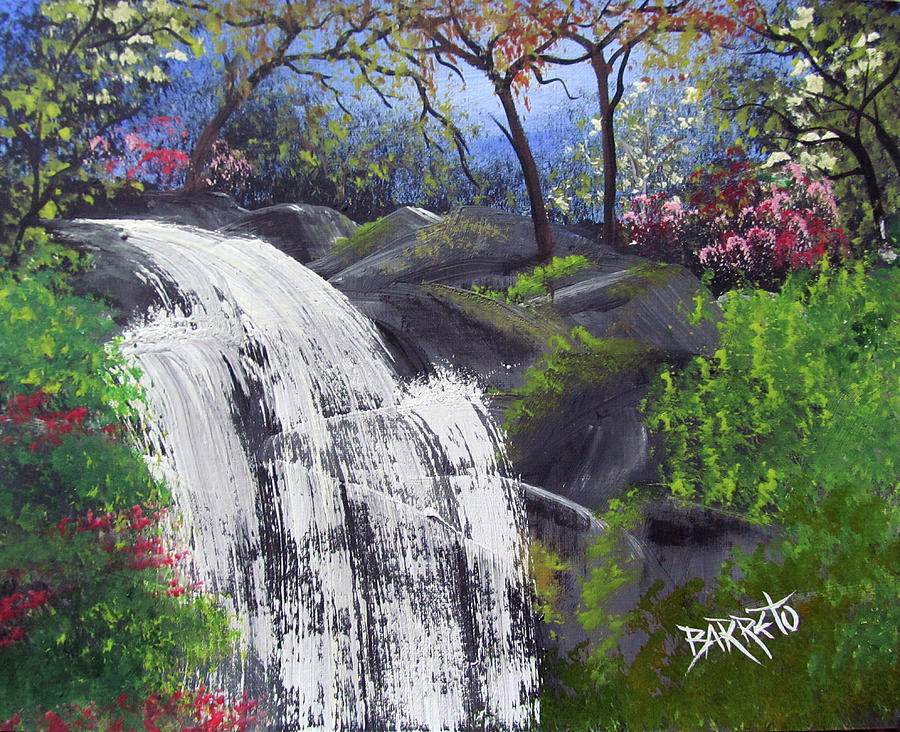 Waterfall by Gloria E Barreto-Rodriguez