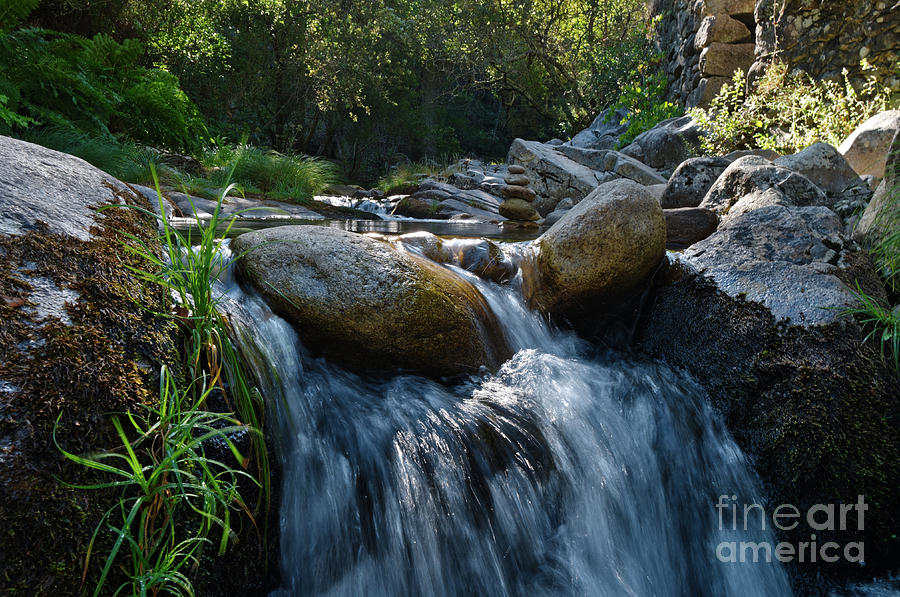 Water Mill Photograph - Waterfall In Rio Da Gralheira 2 by Angelo DeVal