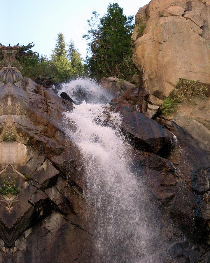 Waterfall near Mount Princeton Colorado by Julia L Wright