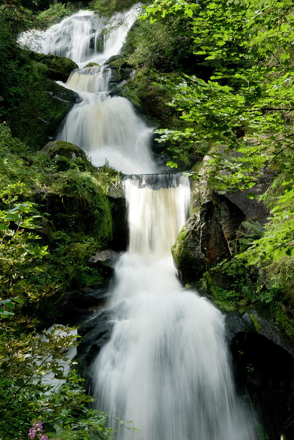 Waterfall Near Triberg Black Forest Photograph by Pidjoe