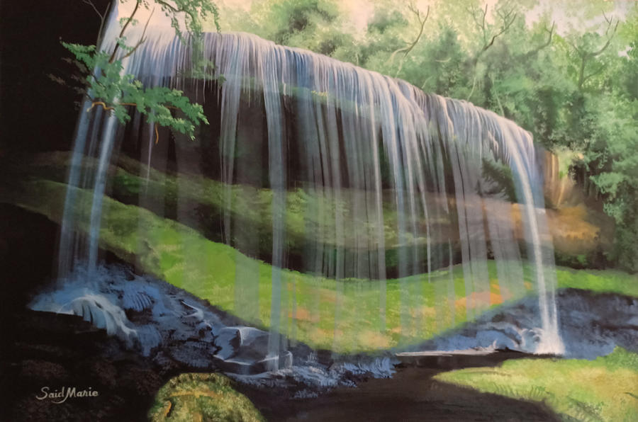 Waterfall Painting - Waterfall by Said Marie