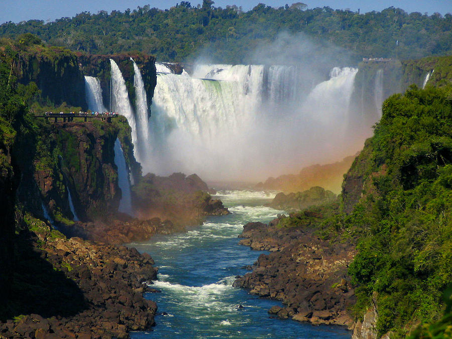 Waterfalls Of Iguazu In South America Photograph by Sandra Leidholdt