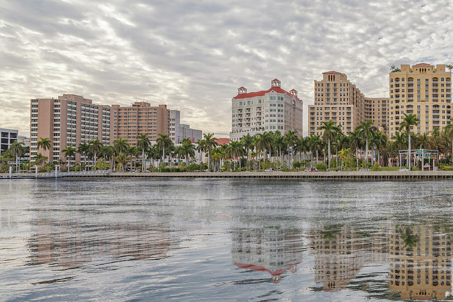 Waterfront reflections of West Palm Beach. by Manny DaCunha