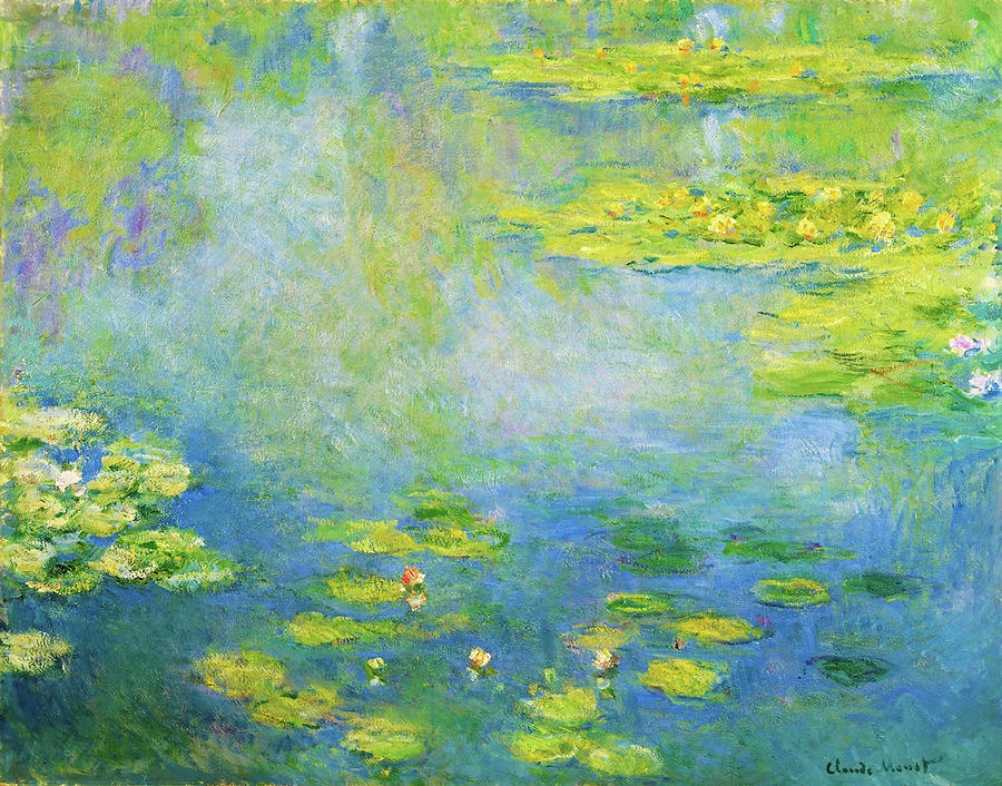 Claude Monet Painting - Waterlilies, 1906 - Digital Remastered Edition by Claude Monet