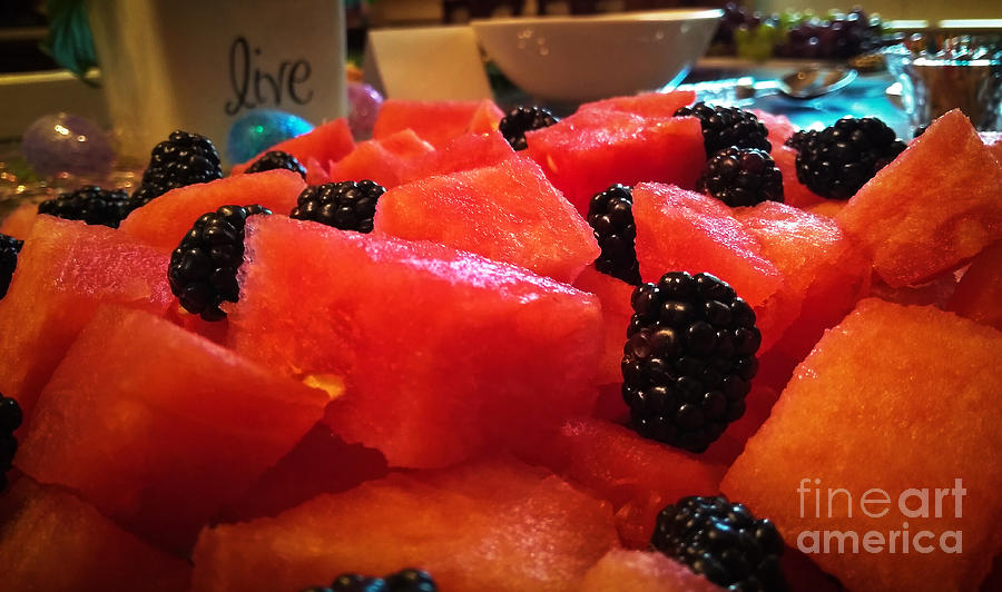 Watermelon and Blackberries by Robert Knight