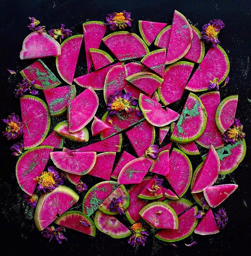 Watermelon Radish Edges by Sarah Phillips