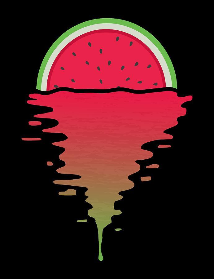 Watermelon Digital Art - Watermelon Sunset by Filip Schpindel