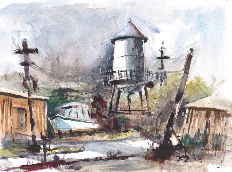 Watertower Sketch by Gaston McKenzie