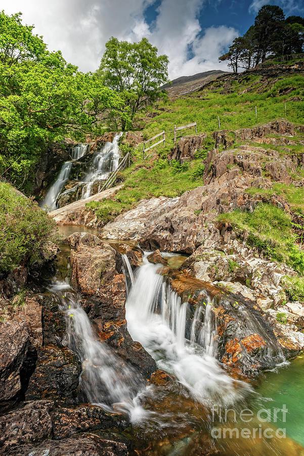 Waterfall Photograph - Watkin Path Waterfall Wales by Adrian Evans