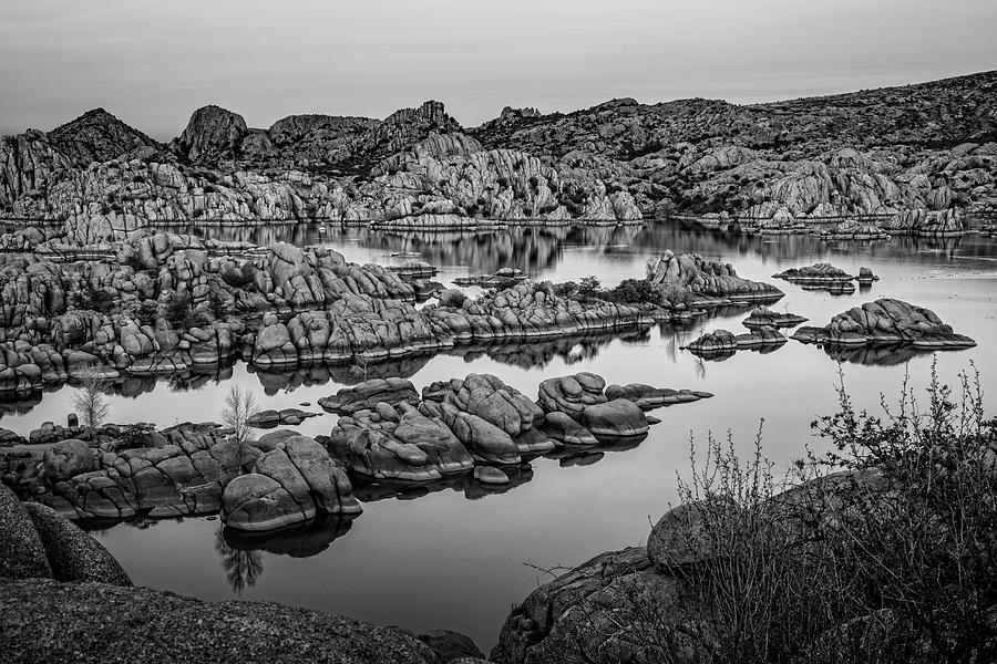 Watson Lake Black and White by Kelley King