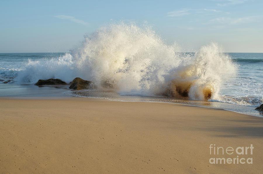 Wave and Rocks in Salgado Beach by Angelo DeVal