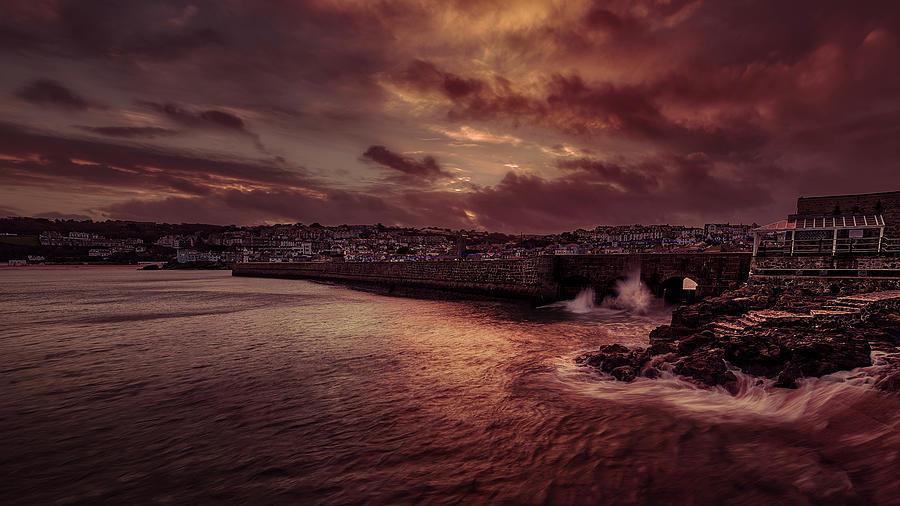 Wave at the Pier by Eddy Kinol