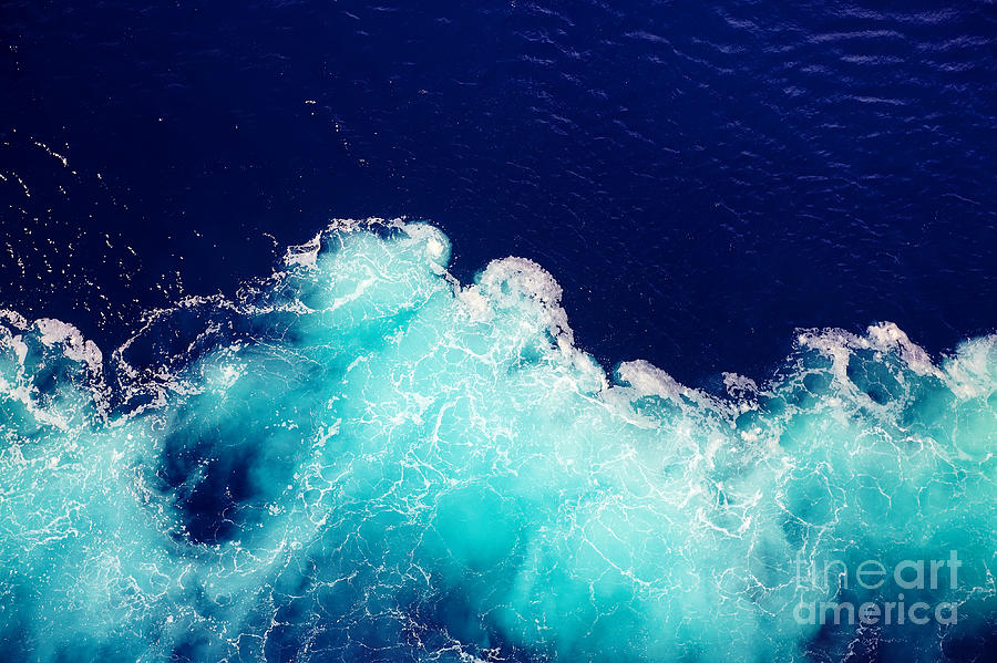 Deep Photograph - Wave Ocean Water Background by Olena Boronchuk