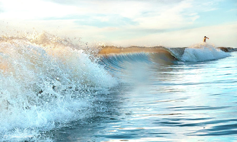 Wave surfer by Stacey Sather