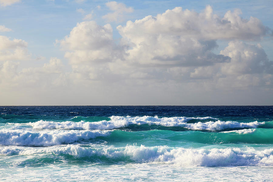 Scenic Photograph - Waves At Grand Anse, La Digue by F. Lukasseck