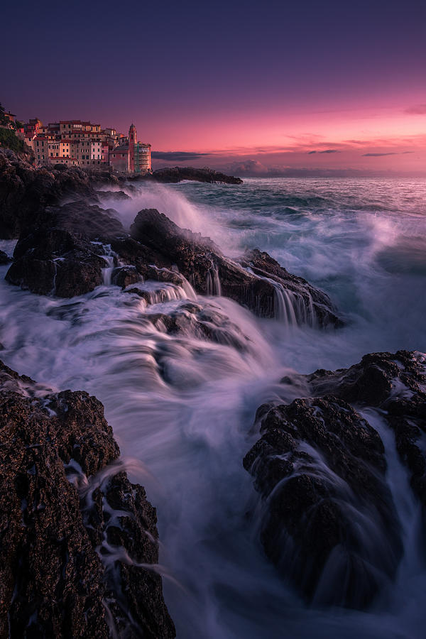 Waves Between The Rocks Photograph by Andrea Zappia
